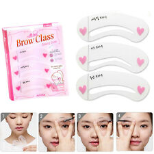 3 Styles Eyebrow Brow Class Drawing Guide Brow Drawing Grooming Shaping Stencils
