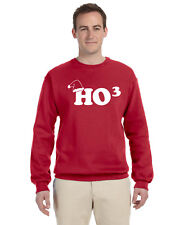 HO3 Unisex Pullover Crew Neck Sweat Shirt Santa Christmas Funny Ugly Sweater