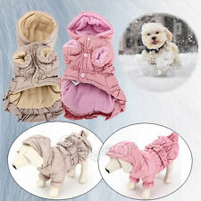 Pet Dog Cat Winter Coat Warm Jacket Puppy Cotton Buttons&bow Clothes Apparel New