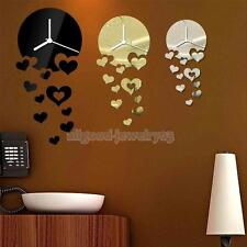 Modern Acrylic 3D Mirror Stickers DIY Home Room Decoration Wall Clock Decal E#A3