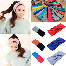 Charm Lady Cotton Turban Twist Knot Head Wrap Headband Twisted Knotted Hair Band