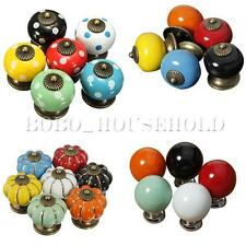 Vintage Colorful Ceramic Door Knobs Cabinet Drawer Cupboard Bedroom Pull Handle