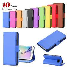 Photo Frame Leather Case Wallet Card Slot Flip Cover Skin For iPhone Samsung HTC