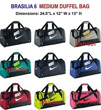 Nike Brasilia 6  Medium Duffel Gym Bag Grip BA4829