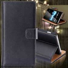 Genuine Leather Case Wallet Card Slot Cover For Sony HTC LG Goole Nokia Huawei