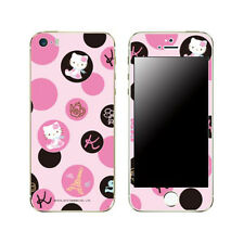 Skin Decal Stickers iPhone 6 Plus Universal Mobile Phone Black Pink French Dot