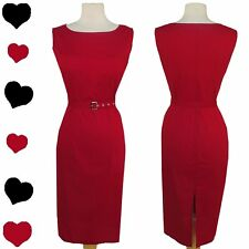 New 50s Red Rockabilly Party Sheath Dress L Xl Cocktail Pinup Wiggle Sleeveless