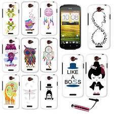 FOR HTC ONE S VILLE Owl Dream Catcher Dragonfly HARD Case Protector Cover + Pen