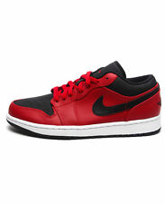 Nike AIR JORDAN 1 LOW BLACK RED BRED 553558-602 LIMITED RARE