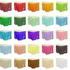 "Solid Colors 14' x 29"" Rectangular Plastic Table Skirts Tableskirts"