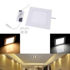 9W Square LED Recessed Ceiling Panel Light Downlight Bright for Bathroom Bedroom