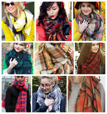 ZARA STYLE Bloggers Favor Tartan Scarf Wrap Shawl Plaid Cozy Checked Blanket