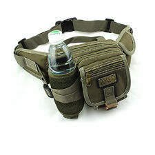 New Waist Bag Pack Bum Water Bottle Holder Riding Cycling Climbing Canvas Bag