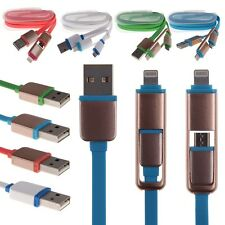 2in1 8pin Micro USB 2.0 Sync Data Charge Cable For iphone 6 Plus Samsung HTC LG
