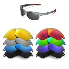 Walleva Replacement Lenses for Oakley Fast Jacket Sunglasses - Multiple Options