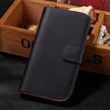 Luxury Genuine Real Leather Flip Wallet Case Cover For Samsung Galaxy S3 I9300