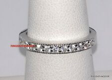 925 Sterling Silver Bridal Wedding Band Anniversary Stackable CZ Ring Size 4-11
