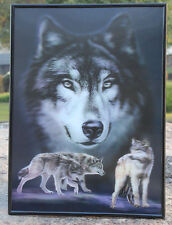 Plus box 3D vivid clear Wolf Lenticular Poster Painting Wall Decor Photo Image