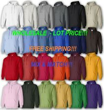 Gildan 18500 WHOLESALE LOT PRICE, White or Colors (Mix&Match) Hoodie New on SALE