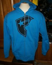 NEW Famous Stars and Straps turquoise blue hoodie sweatshirt medium large M L XL