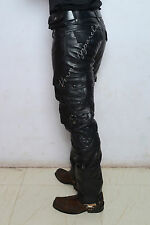 Leather biker military army cargo pant jeans harley davidson vulcan drifter 30