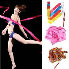 Hot 4M Dance Ribbon Gym Rhythmic Art Gymnastic Ballet Streamer Twirling Rod