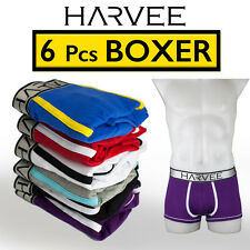 6 pcs Mens Comfy Boxer Underwear HARVEE Trunk Brief Bulge Undies CK2015A
