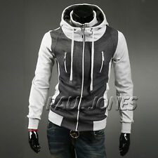 Cool Men's Warm Hoodies Leisure Design Outwear Coats Letterman Sweatshirt Jacket