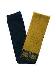 Long Wool Leg Warmers, Boots Socks,Yellow/Blue