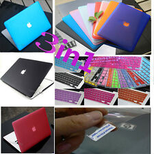 "For MacBook Pro 15""A1398 Retina Matte Hard Case Keyboard Cover Screen Protector"