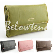 New 2014 Hot Womens Fashion Leather Wallet Button Clutch Purse Long Card Bag