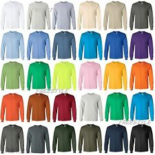 Gildan 2400 Ultra Cotton Mens Long Sleeve T-Shirt S-5XL, FREE SHIPPING, New SALE