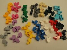 LEGO NEW 1X2X1 1/3 Curved Top Bricks Lavender White Green Pink Gray Blue Lot 10