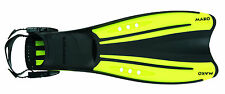 OceanPro Mako Scuba Diving or Snorkeling Fins Open Heel Yellow All Sizes