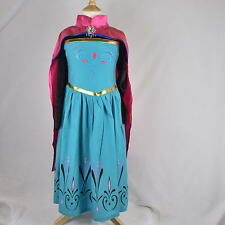 Frozen Elsa Coronation Dressing up Costume Dress &Cape 2 3 4 5 6 Yr NEW UK STOCK