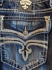 NWT Rock Revival Eldon B5 Boot Cut Mens heavy stitched Jean sty# RP963585