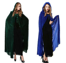 Cloak Cosplay Masquerade Costume Halloween Witches Cape +Buckle