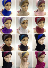 New Style Modal Crossover Muslim Hijab Islamic Inner Caps Underscarf Sport Hats