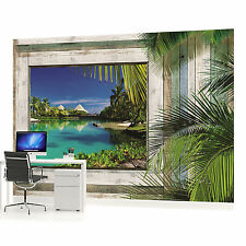 Beach Sea Sand Landscape PHOTO WALLPAPER WALL MURAL ROOM DECOR (1229P)