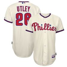 Chase Utley Philadelphia Phillies Authentic Alternate Ivory Cool Base Jersey