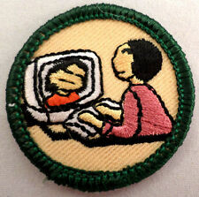 Retired Girl Scout Junior Cyber Scout Badge Uniform Patch