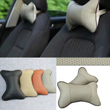 2pcs Artificial Leather Auto Car Seat Head Neck Rest Cushion Headrest Pillow Pad