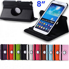 For Samsung Galaxy Tab 3 8.0 tablet 360 Rotating PU Leather Stand Case Cover New