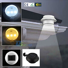 Solar Power LED Fence Gutter Light Home Garden Wall Yard Stairway Path Lamp US