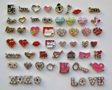 Floating Charms - LOVE, HEARTS, VALENTINES HOLIDAY - for living memory lockets!