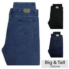 Big & Tall Men's Denim Jeans Fixed Waist 48 - 66 Relaxed Fit by Full Blue