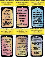 INSPIRATIONAL, CHRISTIAN, RELIGIOUS, FAMILY, FRIENDSHIP, SAYING SIGNS PLAQUES 2