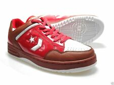 Mens Converse Lace Up Trainer, Leather, Red/ white, Weapon Red Ox