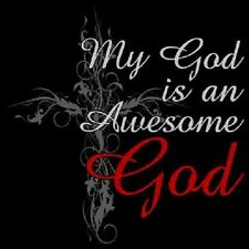 My God Is An Awesome God T-Shirt Cross Christian Religious Inspirational S-6XL