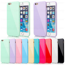 Silicone Rubber Gel Case Cover For iPhone 4 4S 5 5S 5C 6 Plus +Screen Protector
